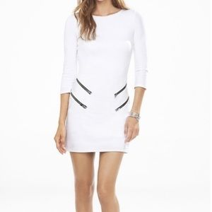 Express White Dress with Zippers, Sz. M